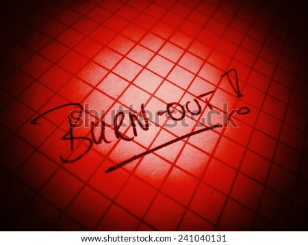 red burn out symbol - stock photo