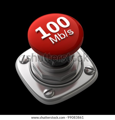 Red button Isolated High resolution. 3D image