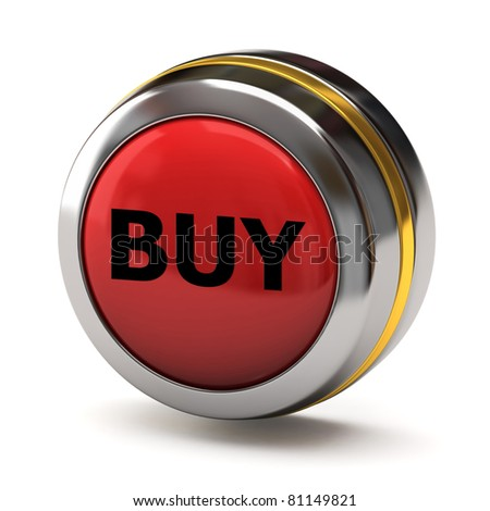 Red BUY button - stock photo