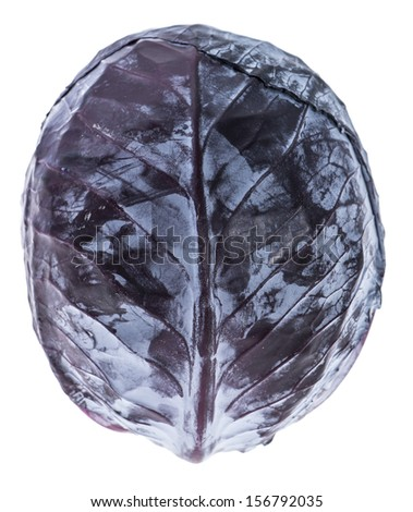 Red Cabbage isolated on white background - stock photo