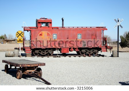 red caboose on display