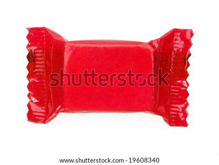 red candy wrapper - stock photo