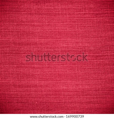 red canvas texture or stripe pattern linen background - stock photo