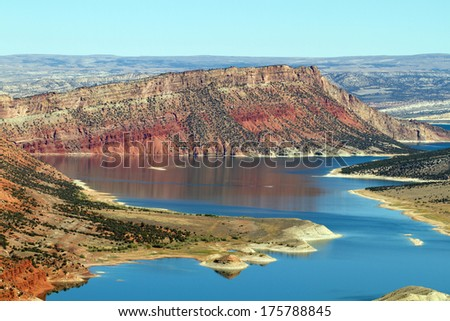 Red Canyon at Flaming Gorge National Recreational Area - stock photo