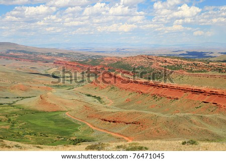 Red Canyon overlook in Fremont County Wyoming - stock photo