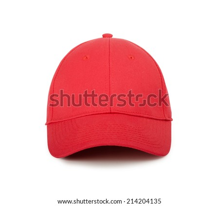 Red cap on a white background