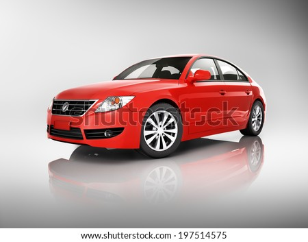Red car - stock photo