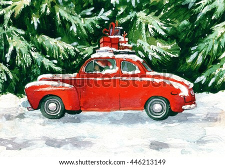Christmas Tree Car Stock Images Royalty Free Images