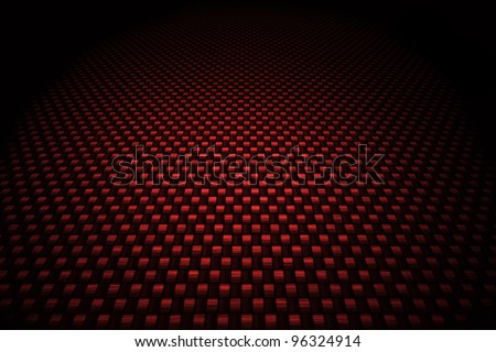 Red carbon fiber background - stock photo