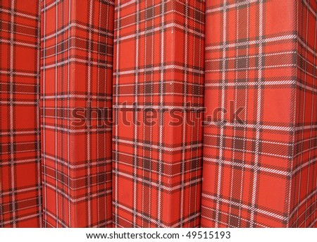 Red cardboard boxes - stock photo