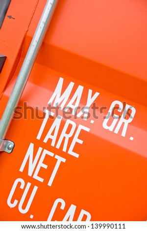 Red cargo container - stock photo