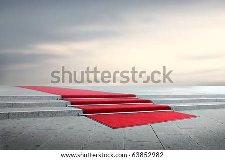 Red carpet - stock photo