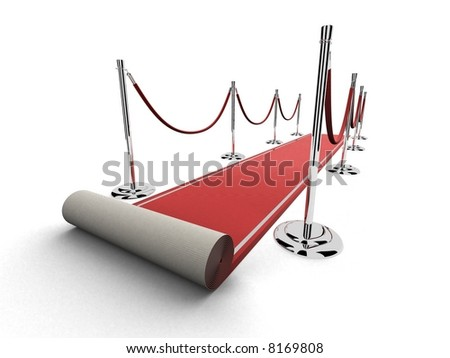 red carpet - stock photo