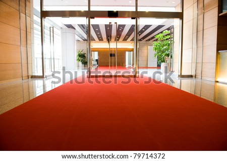 Red Carpet entrance for a celebrity welcome - stock photo