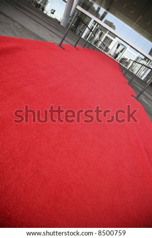 Red carpet entrance for the rich and famous - stock photo