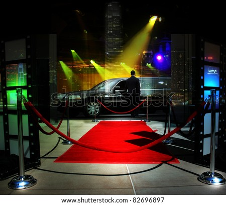 Red carpet event - stock photo