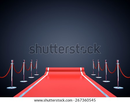 Red carpet event background with copy space , Award ceremony , Premiere - stock photo