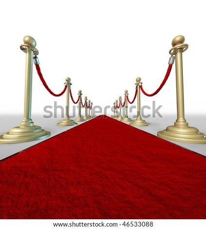 Red carpet grand entrance forced perspective