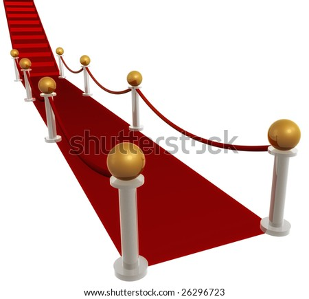 Red carpet line - stock photo