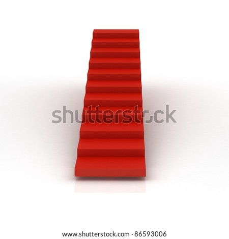 Red Carpet Stairs - stock photo
