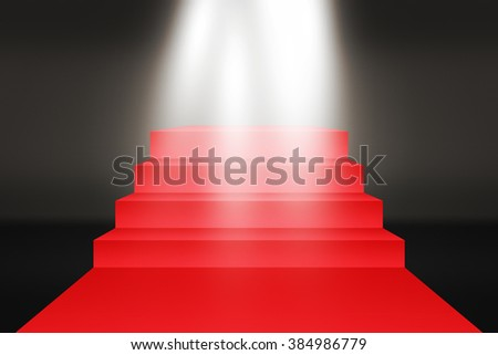 Red Carpet Stairs Backdrop