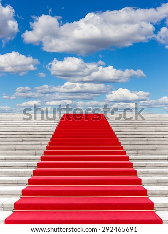 Red carpet with sky