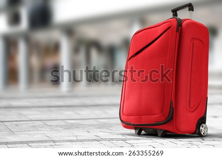 red case and street  - stock photo