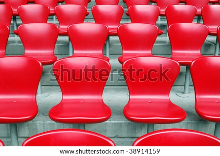 Red Chairs - stock photo