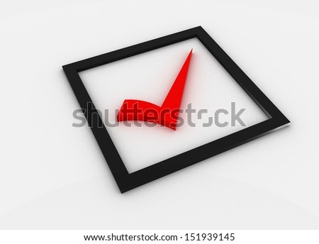 red Checkmark - stock photo