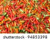 Red chili pepper texture - stock photo