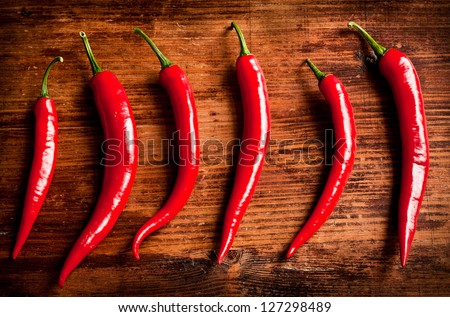 Red Chili Peppers - stock photo
