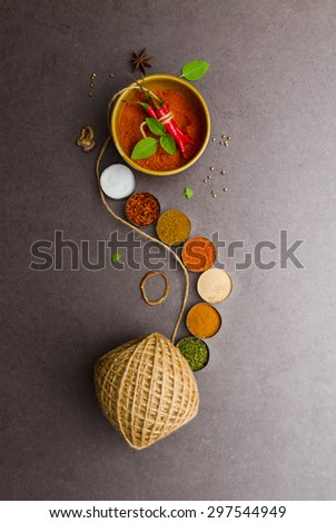 Red chilli on background. - stock photo