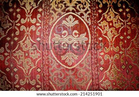red chintz.  - stock photo