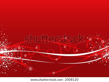 Red Christmas background illustration - stock photo