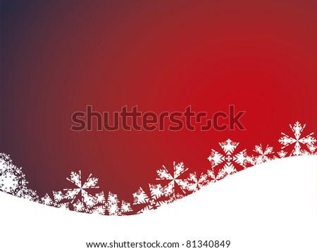 Red christmas background illustration - stock photo