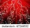 Red christmas background with stars. See my portfolio for more - stock vector
