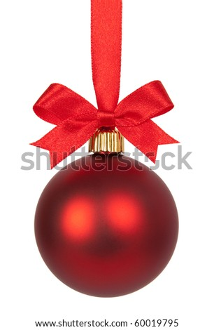 Red Christmas ball - stock photo