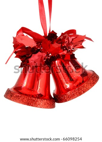 red christmas bell - stock photo