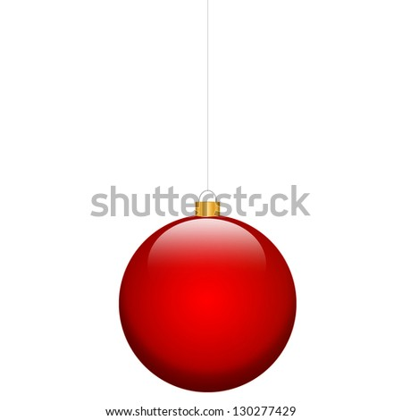 red christmas bulb isolated