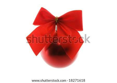 Red Christmas decoration isolated on white