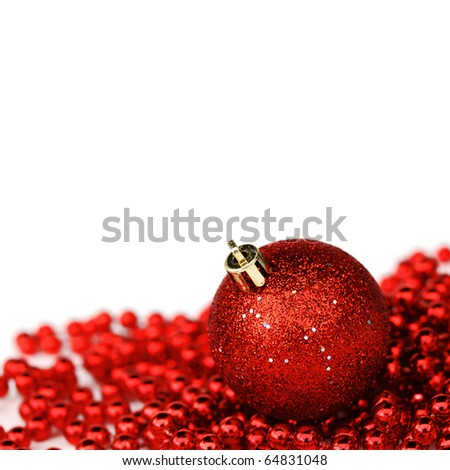 red christmas gift - stock photo