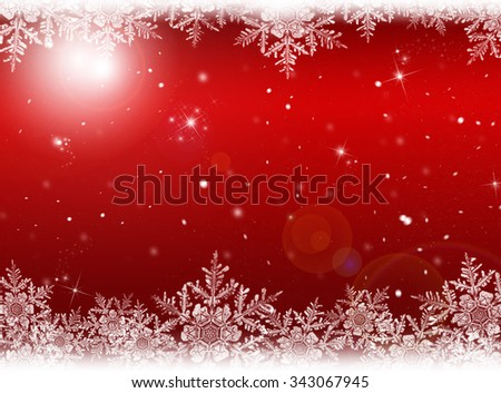 Red Christmas, New year background. Winter holiday  - stock photo