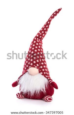 red christmas scandinavian gnome - stock photo