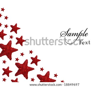 Red Christmas Star background - stock photo