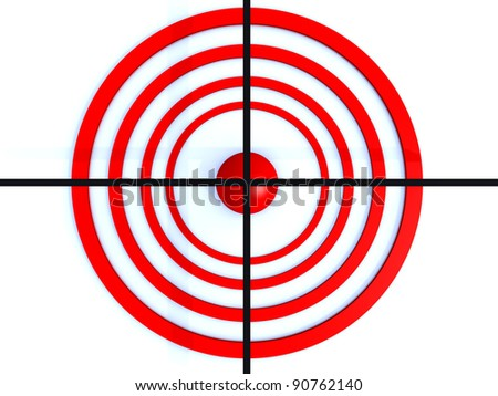 red circle target with black hair cross