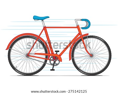 Red City Bicycle - stock photo
