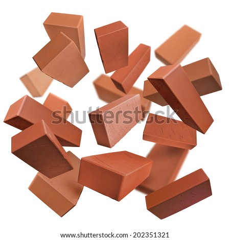 flying brick stock photos royalty free images vectors shutterstock. Black Bedroom Furniture Sets. Home Design Ideas
