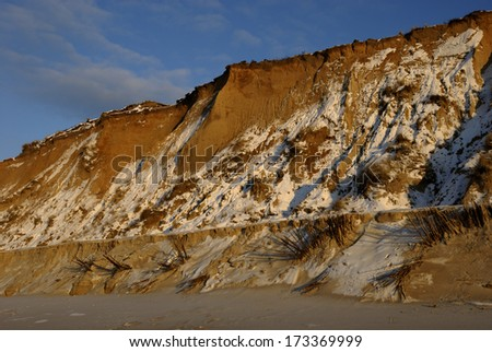 Red Cliff on Sylt, Germany
