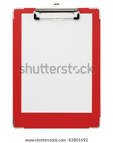 Red clipboard.