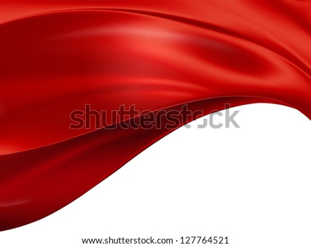 red cloth on a white background - stock photo